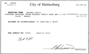 Russell Davis Hattiesburg Mississippi