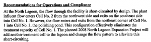 A 2007 report by United Water outlined numerous problems with management and maintenance of the city's lagoon system.