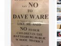 Racist Flyer Cast Shame on Blacks for Taking Food at Ware Campaign Events